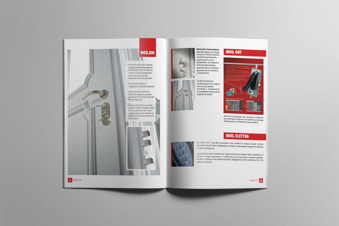 Panzetta, creazione brochure